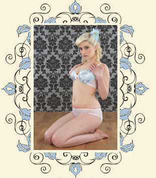 Alice bra and frilled knickers by Lulu and Lush