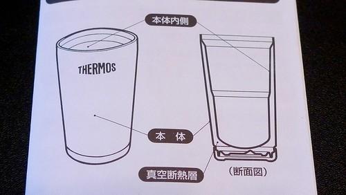 真空断熱タンブラーの断面