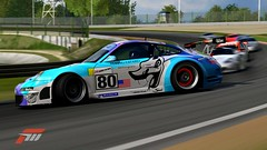 #80 Flying Lizard 911 GT3-RSR (jsayer) Tags: light white 3 blur colour cars lines car tarmac sport yellow contrast race speed corner dark grid design high exposure track steering low 911 racing turbo porsche forza brake 80 circuit lead r3 brightness turning tyre winning sportscar motorsport drifting drift racingcar skid gt3 livery tyremarks braking skidding rsr flyinglizard gt3rsr inthelead forzamotorsport3