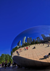 Cloud Gate (The Bean) Chicago (Keenan Adams) Tags: park summer cloud chicago station canon photography eos illinois gate photographer adams union sigma millenium bean fisheye hdr keenan the 10mm 40d wwwkeenanthephotographercom