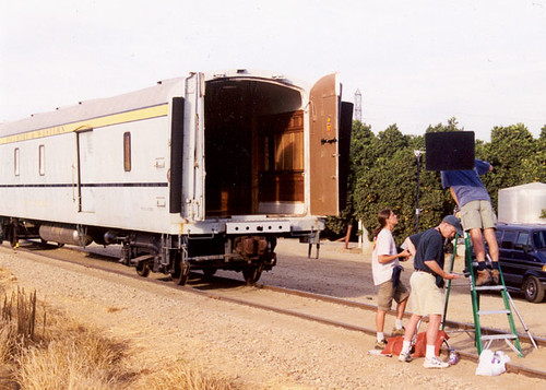Private Rail Car - Pony Express, the rear opening door