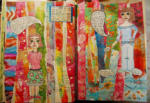 Strip Ease Art Journal Page