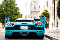 "Koenigsegg CCXR ""Special One"" (Valkarth) Tags: blue baby paris france car canon eos one julien automobile europe ultimate mark turquoise sigma bio automotive swedish voiture special cc v khalifa ii coche arabe 5d orient julius hamad georges f28 supercar mk fuel suede koenigsegg qatar ibn mkii markii 70200mm valk ccx moyen althani awesone ccxr ultracar 5d2 valkarth fautrat xothum anaalthani"