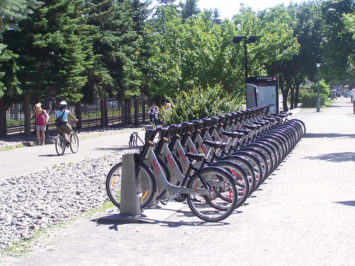 Bixi station approaching the Old Port of Montreal