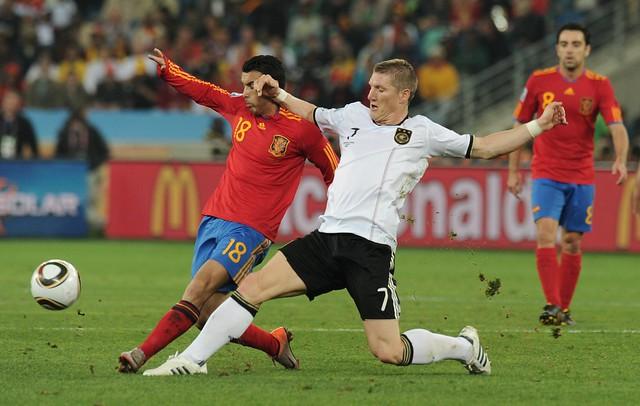 España Alemania Pedro Bastian Schweinsteiger