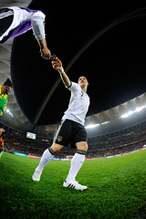 World Cup 2010 South Africa: Spain v Germany (toksuede) Tags: world africa cup sports sport del germany deutschland foot football spain nikon fussball soccer south du weltmeisterschaft espana espanol di deporte monde futbol coupe mundo copa futebol d3 2010 calcio durban bastian schweinsteiger