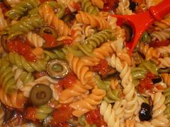 Garden Pasta Salad! (steamboatwillie33) Tags: summer dinner garden tomato foods salad italian pasta dressing olives flavors