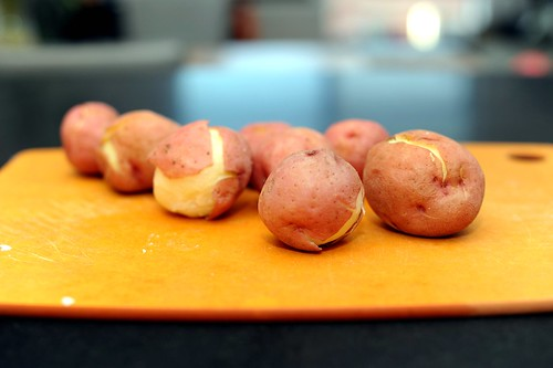 happy, red potatoes