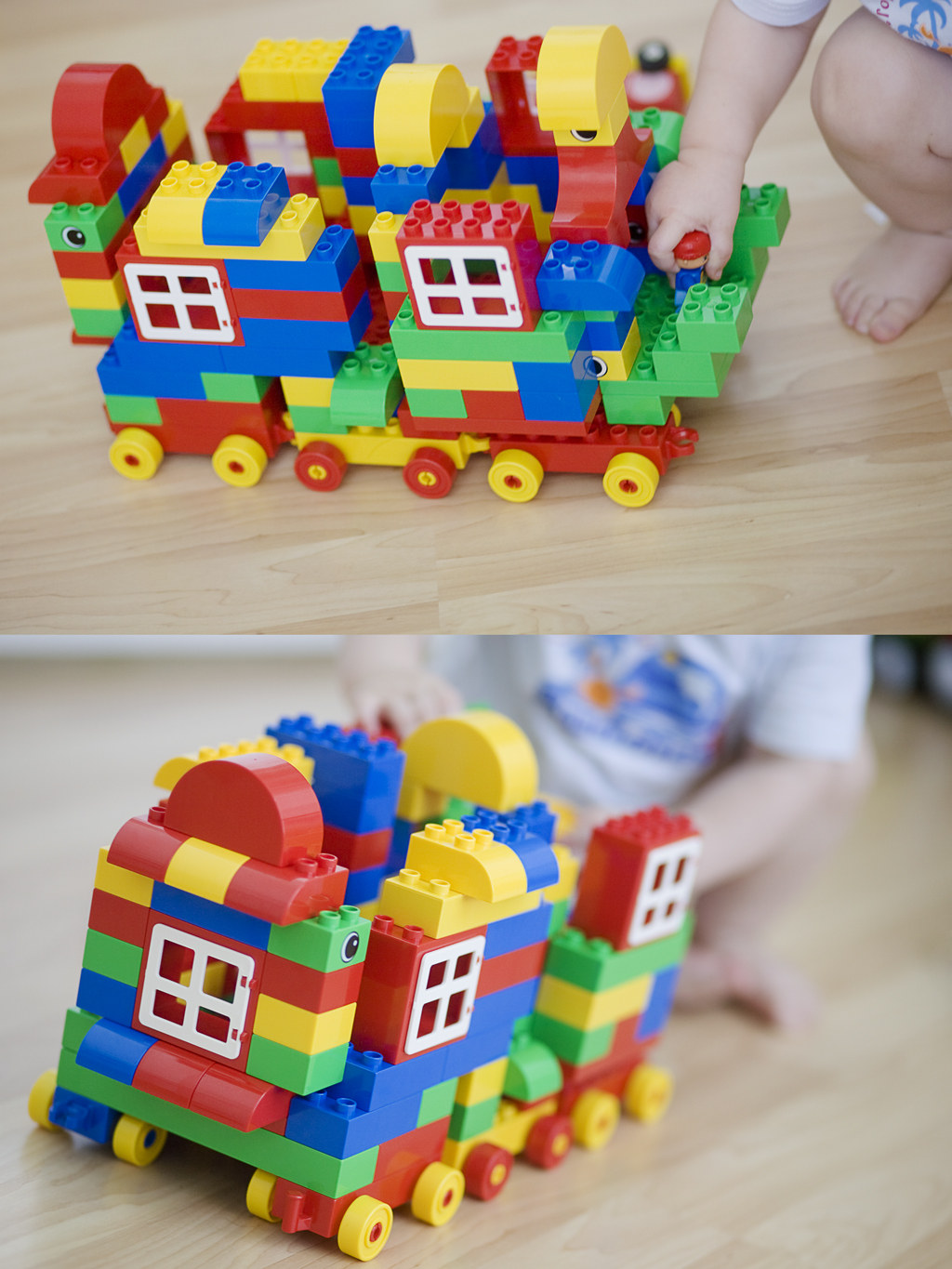 mobile home with lego duplo's
