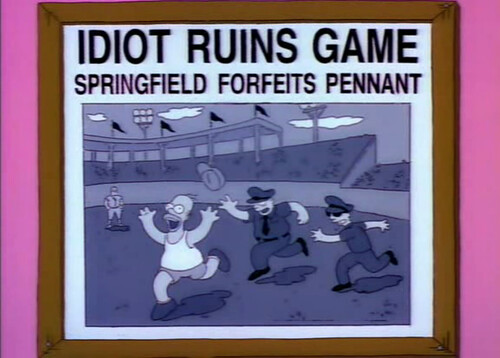 every newspaper headline published in the simpsons metafilter