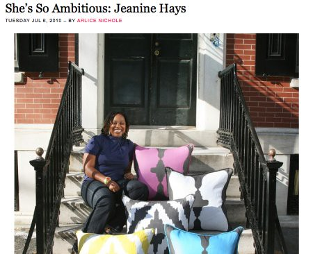 Jeanine Hays in Clutch Magazine