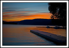 Nature's Fireworks (stevenbulman44) Tags: light sunset lake color nature water beauty landscape tranquil shuswap naturesfinest justclouds mywinners freenature