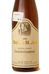 1988 Chateau St. Jean Gewürztraminer