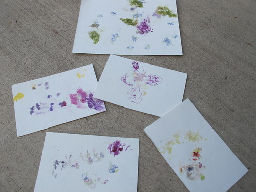 Some of the pounded flower prints