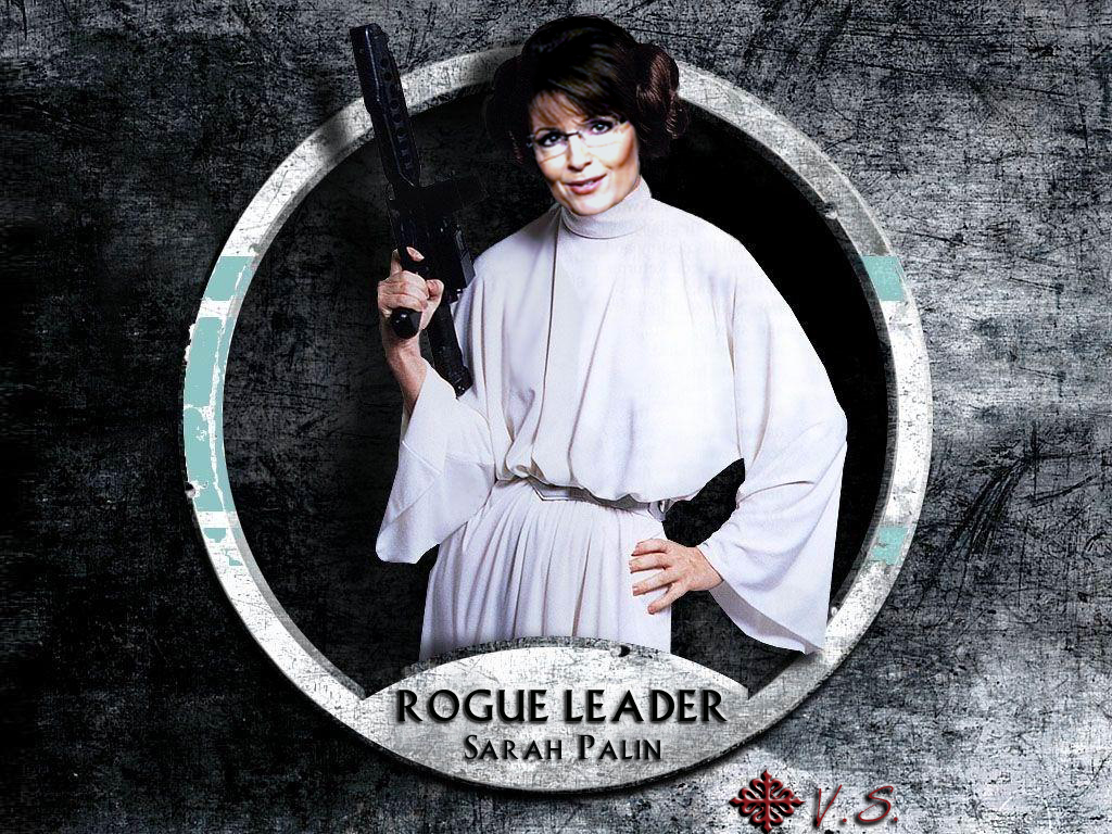 Sarah Palin as Star Wars Leia--Rogue Leader