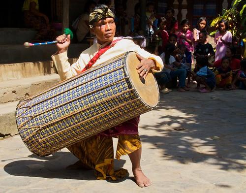 Gendang Beleq Traditional Dance~Rambitan Village. Lombok, Indonesia 2010