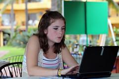 Ooo! On-line intrigue! (shyzaboy) Tags: trip family vacation cute girl méxico children mexico kid child daughter jalisco puertovallarta estadosunidosmexicanos
