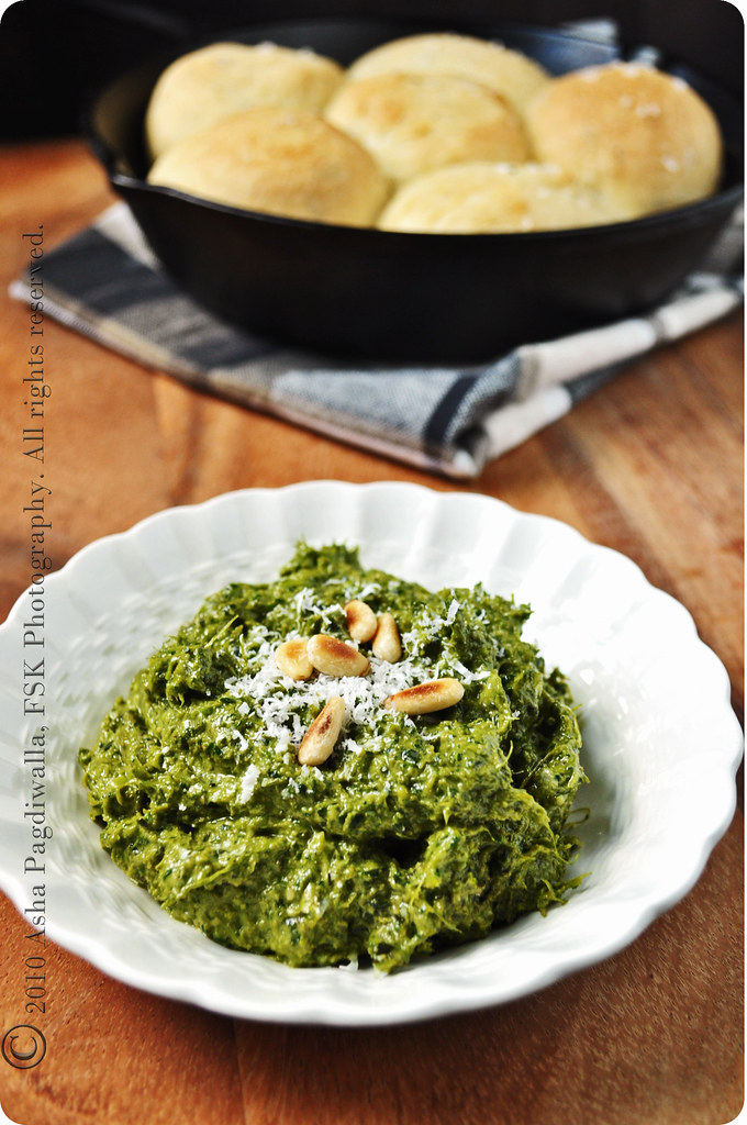 Garlic Scape Pesto and Bread Rolls 1