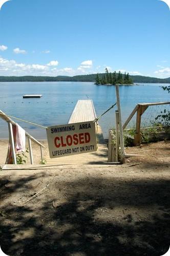 Camp Wabikon: the swimming area