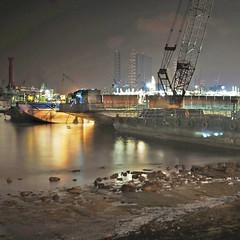 Ship repair yard near the West Coast Park – Singapore (williamcho) Tags: night dark singapore repair service containership shipyard westcoast seashore d300 williamcho photosonsingapore
