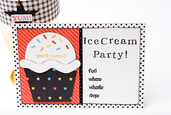 ice cream party invite for Fiskars