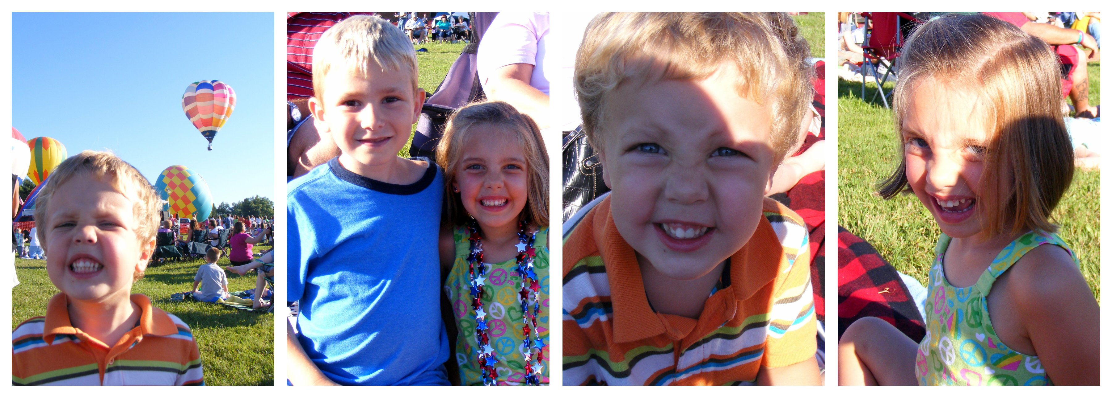 kids at balloon  festival collage