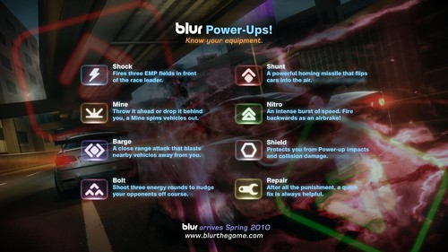 Blur demo for PS3: Power-ups