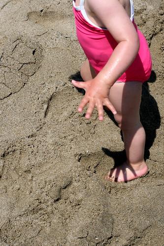 Piedini di Vicky sulla sabbia