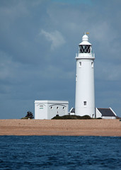 Hurst Lighthouse (Mike's Greek) Tags: blue white sailing solent hurstcastle hurstlighthouse