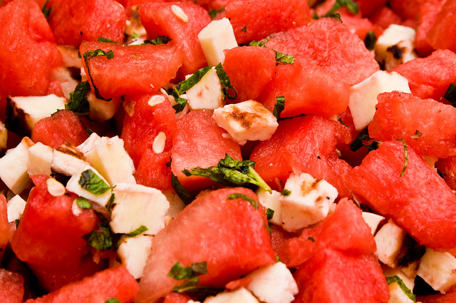Watermelon & Haloumi Salad
