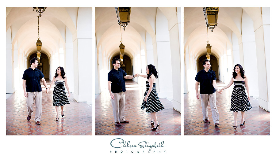 Dancing for engagement session