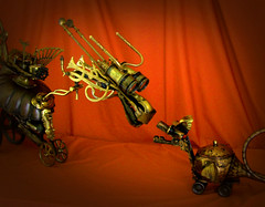 FOIBLE and SQUIRT - Steampunk Robot Dragon Sculptures - Reclaim2Fame (Reclaim2Fame) Tags: sculpture altered robot dragon recycled mixedmedia robots brass foundobject recycledmaterial dragonsculpture vintageobject robotsculpture steampunkart steampunksculpture steampunkassemblage steampunkdragon steampunkcreature