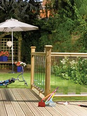 Traditional Glass Panel Deck (Richard Burbidge) Tags: decks decking deckrailing deckboards wooddecking gardendecking richardburbidge deckingbalustrade deckingrails deckingbalustrades