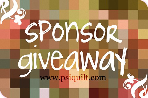sponsor giveaway.