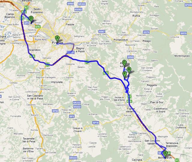 Mapa Outlets - Florença