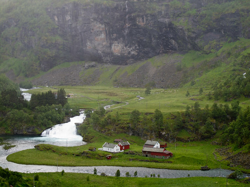 Small Waterfall - Flam Railway, Norway