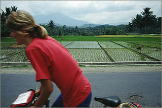 Cycling in Sumatra
