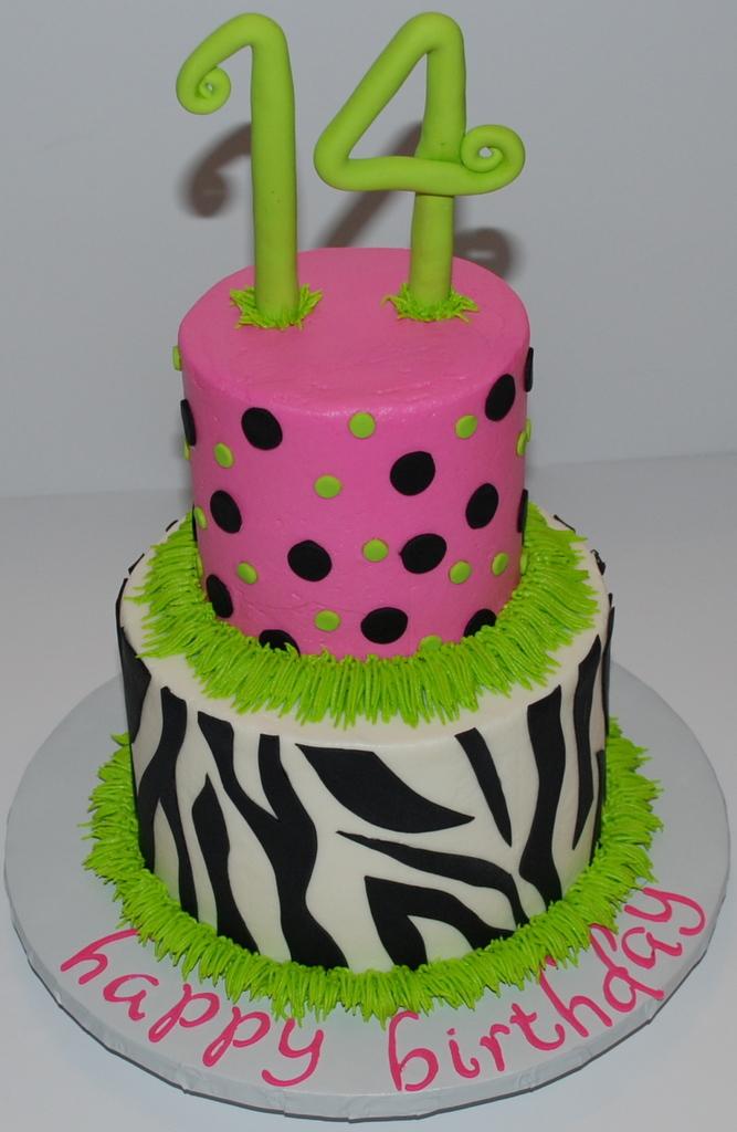 Zebra & Polka Dots Cake