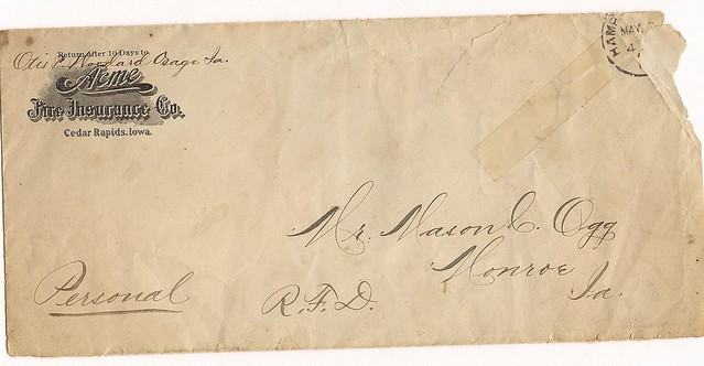 Envelope letter to Mason
