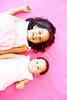 (natsipoo) Tags: pink girl sisters siblings fleece 4yrs 9mths natsipoo