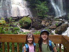 Girls at Anna Ruby Falls