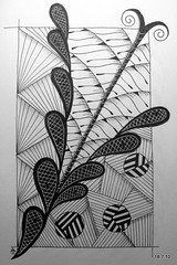 Expecting to Fly (Jo in NZ) Tags: pen ink drawing line doodle zentangle nzjo zendoodle