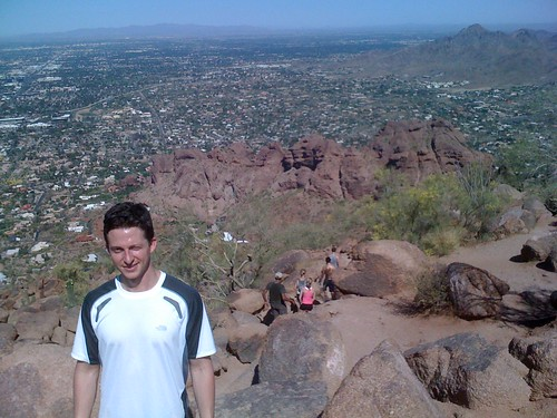 Bryce at the top of Camelback Mtn.