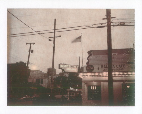 balboa cafe- chocolate polaroid night exposure