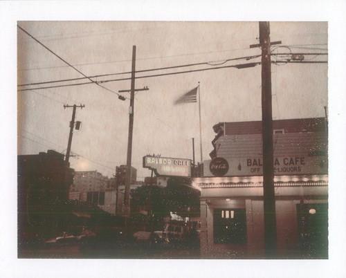 balboa cafe- chocolate polaroid night exposure