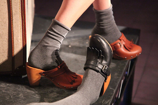 the best of both words: clogs and socks