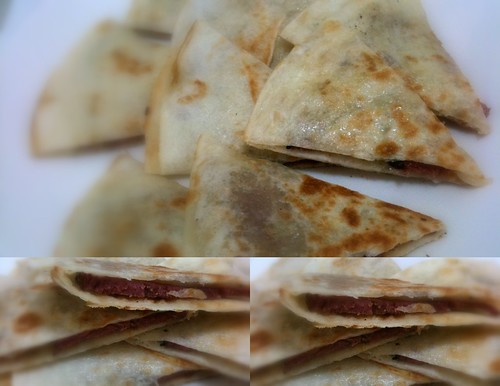 Ham and Cheese Quesdillas