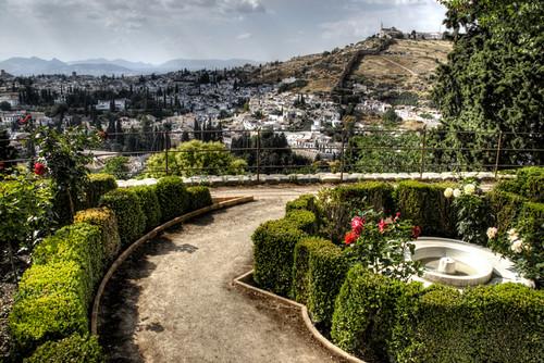 Generalife gardens. Alhambra, Granada. Jardines del Generalife
