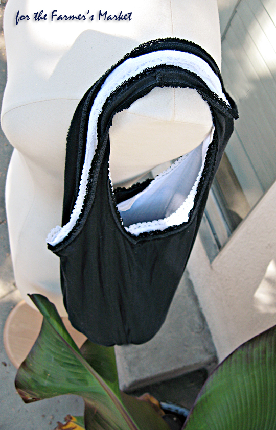 black and white tank top bag