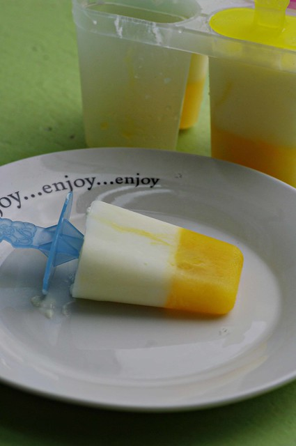 Orange Yogurt Popsicle